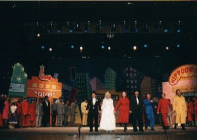 "The finale and amazing b'way set of ""Guys & Dolls"""