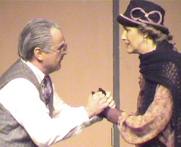 Patrick L'Argent and Angela Mitchell as Herr Schultz and Fraulein Schneider
