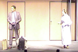 Brian Garrigan as Cliff and Angela Mitchell as Fraulein Schneider