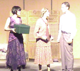 Emily Saxe, Angela Mitchell and Brian Garrigan as Sally, Fraulein Schneider, and Cliff