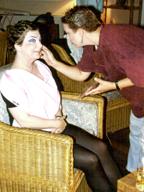 Maria Achaz helps Sara Fielding to transform