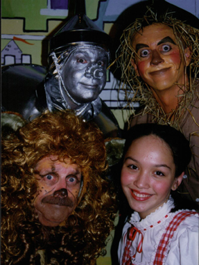 Daryl Morrissey as The Tin Man, Neil as The Scarecrow, Paul Robere as The Lion and Catheryn Hopkins as Dorothy