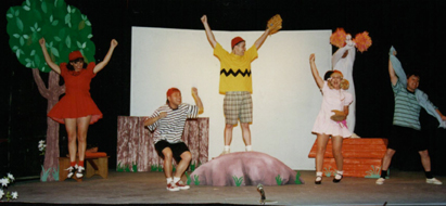 Cheering for The Baseball Game: Michelle Zielinski as Lucy, Wilfredo Pascual as Schroder, Frank Goudsmit as Charlie Brown, Bonnie Zellerbach as Patty, Ismael Mercado as Snoopy and  Patrick L'Argent as Linus