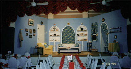 "The fabulous ""blue apartment"" set at The British Club"