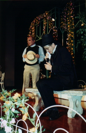 Dr. Chasuble (Roderick Turner) pontificates while Earnest/Jack (Robert Crowe) grieves the loss of his brother....