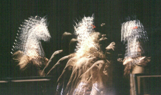 The effect of the Strobe light on the horse blinding scene.