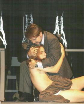 Patrick L'Argent as Dr. Dysart  and Jonathan Newton as  Alan Strang