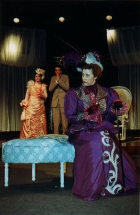 Lady Bracknell (Angela Mitchell) is not amused