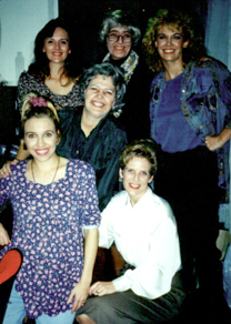 The Cast backstage:  Norah Grant, Betsy Angle, Lynn Hoke, Bonnie Zellerbach, Penny Loome,