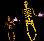 Larry Ryan as a tap dancing skeleton in the witch's castle