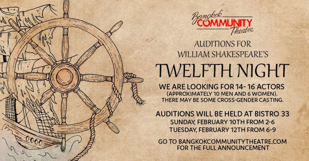 Calling All Actors! Auditions Feb 10th and 12th | BCT